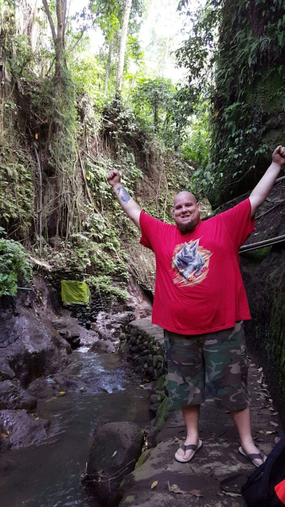 Hiking in the Monkey Forest jungle in Ubud, Bali
